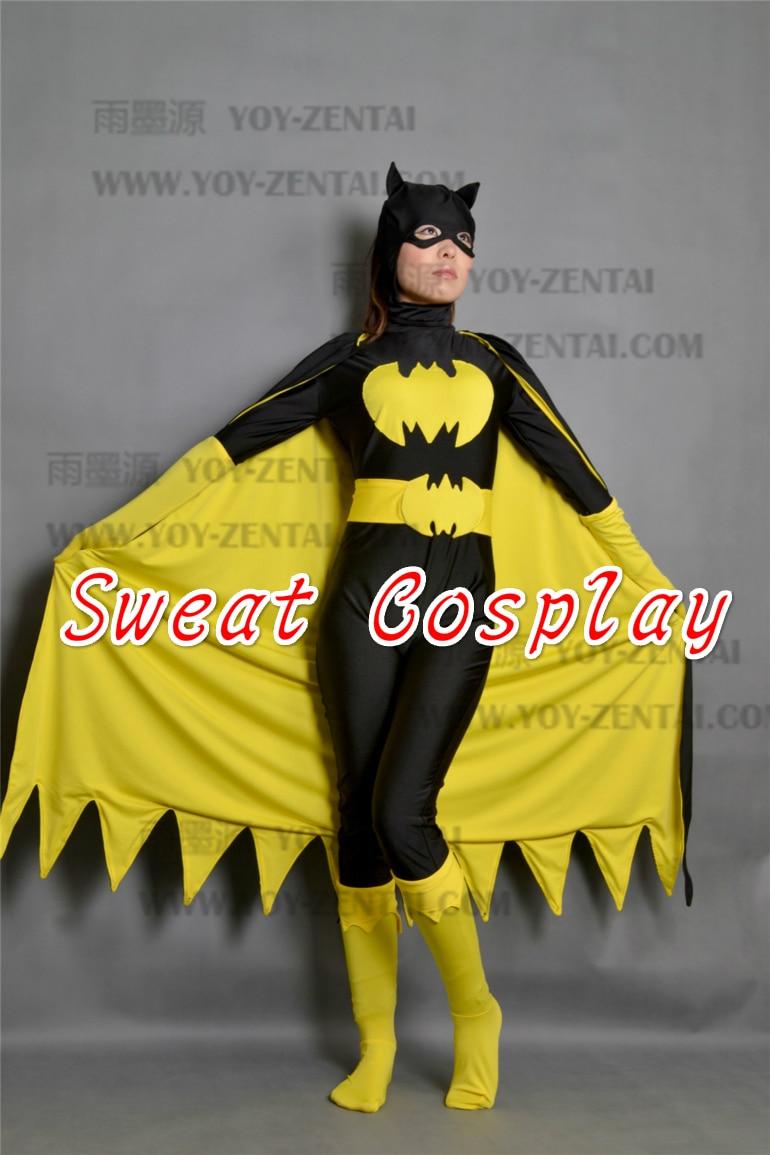 black batman costume women adult batgirl cosplay halloween costumes for women sexy superhero bodysuit zentai mask & Exclusive Version Batman Batgirl Cosplay Costume For Female ...