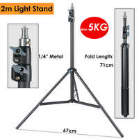 Heavy Duty Metal 2m Light Stand Max Load to 5KG Tripod for Photo Studio Softbox Video Flash Reflector Lighting Background Stand