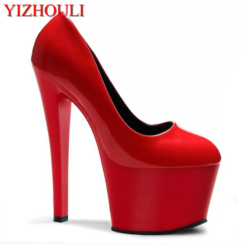 Special offer single shoes 17cm super high heels model show round head paint and ankle new shoes p80 panasonic super high cost complete air cutter torches torch head body straigh machine arc starting 12foot