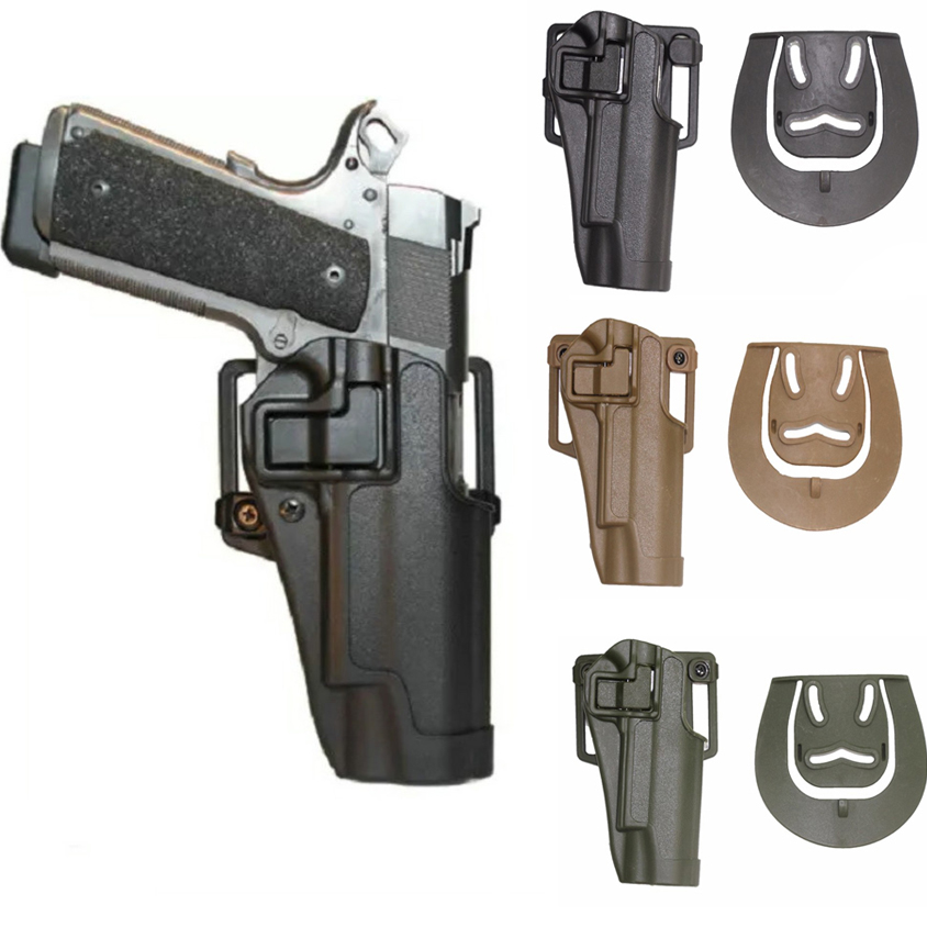 Aliexpress com : Buy Outdoor Tactical Army CQC Colt 1911 Holster Hunting  Shooting Airsoft 1911 Military Belt Gun Pistol Holster Paddle CS  Accessories