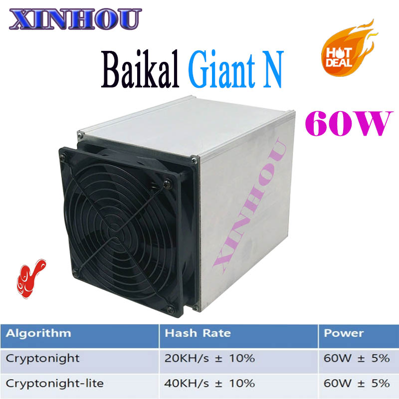 Asic Baikal Giant N miner 20-40KH/s 60W CryptoNight and CryptoNight Lite low noise can mine much kinds coins Better than s9 z9 george macdonald what s mine s mine complete