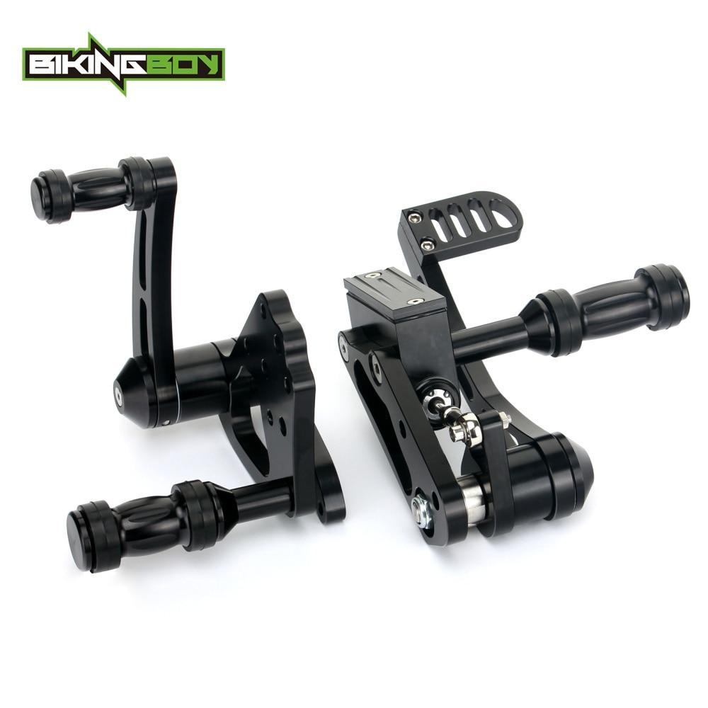 BIKINGBOY Forward Controls Footpegs For Harley Davidson Softail Custom FXSTC FXST 84 85 86 87 88 89 90 91 92 93 94 95 96 97-1999