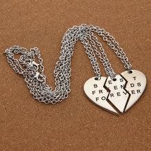 Collier ras du cou avec pendentif en cœur pour femme, 3 pièces cassées, meilleur ami pour toujours, nouvelle collection
