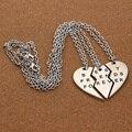 Nuevo Collar Gargantilla Collar Colgante de Corazón 3 Unidades Roto Mejor Amigo Para Siempre Collar de Las Mujeres Collar de La Joyería Collares Mujer