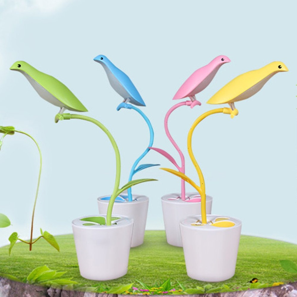 Desk Lamps Lamps & Shades Have An Inquiring Mind Hot Folding Free Bird Creative Eye Table Lamp Usb Touch Sensor New Strange Led Night Light Attractive Fashion