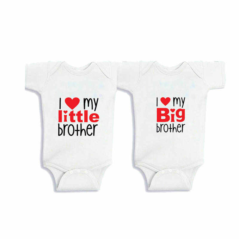 eca853a8053d Culbutomind New CottonTwins Big Brother Littler Brother Little Sister Twins  Baby Clothes SummerShort Sleeve Twins Baby