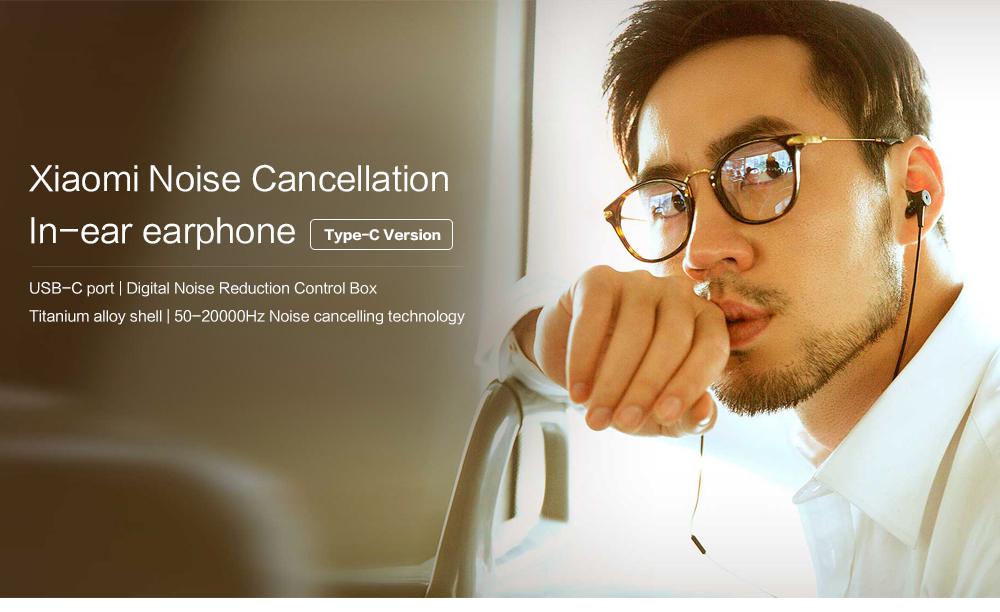 Original Xiaomi ANC Earphones Hybrid Type-C Mic Line Control Active Noise Cancelling USB-C for Xiaomi Mi6 MIX Note2 Mi5 5s Plus (16)