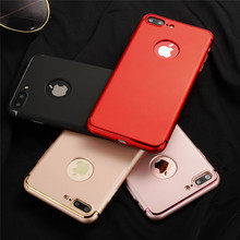 ZhiShang Luxury Series Case for iPhone 7 iphone7 Plus Back Cover Black Matte Hard 360 Full Protection Shell Case 3 in 1 Fashion