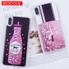 hot deal buy glitter case for iphone x 6 6s 7 8 plus xr xs max se 5 5s quicksand liquid cover for iphone 7 plus xr xs max soft silicone case