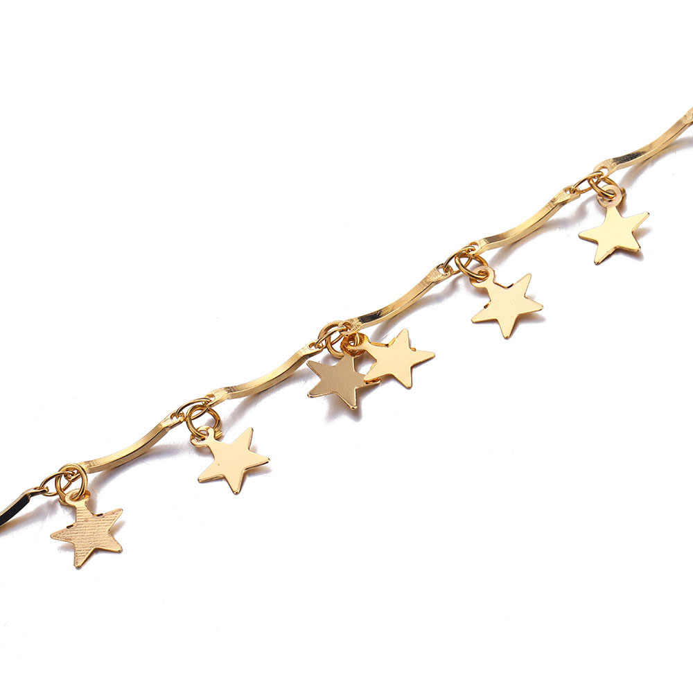 IPARAM Moda Colares Gargantilha da Cor do Ouro Prata Colar Estrela Lua Mulheres Boho Pingentes Collares Collier Jóias Ketting