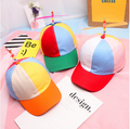 2016 new propeller folded bamboo dragonfly adult baseball cap hip-hop hat cap men and women bent eaves hat
