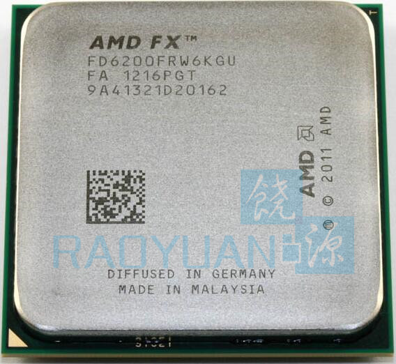 AMD FX Series FX 6200 FX 6200 FX6200 3 8 GHz Six Core CPU Processor FD6200FRW6KGU