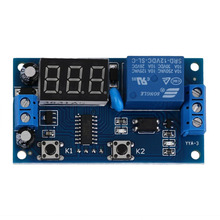цена на 2018 New Electrical DC 12V Time Relay Module Digital Display Trigger Cycle Time Delay Relay Module Board YYA-3 Dropshipping