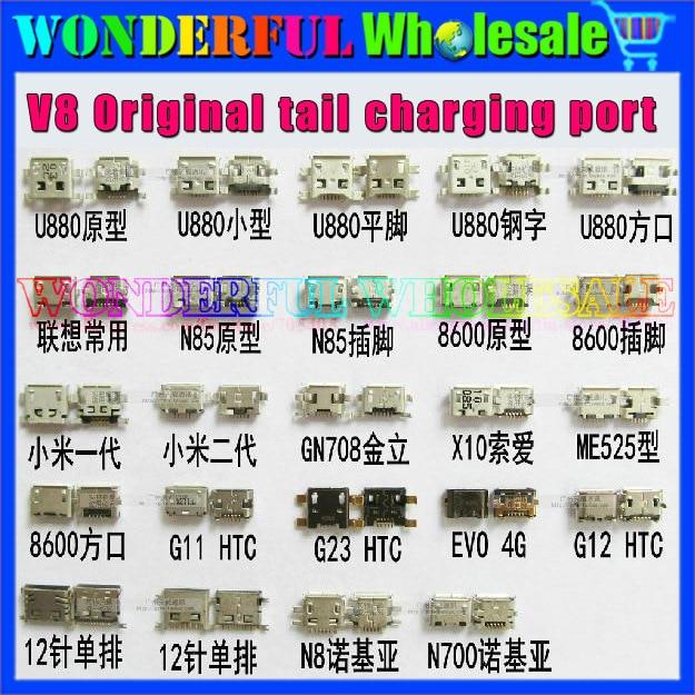24models,V8 5P 7P 10P 12P Original tail plug USB charging port for ZTE/Huawei/HTC/Lenovo/Nokia/Sony Ericsson/..