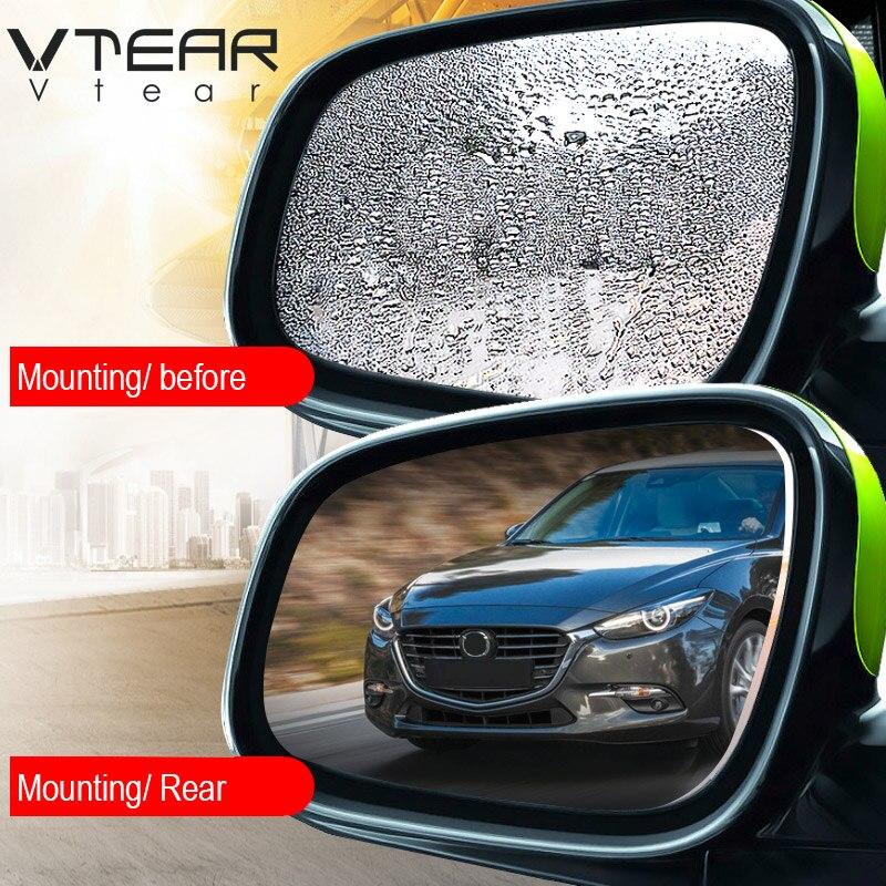 Vtear For Mazda 3 CX5 CX-5 CX-3 CX-9 Mazda 6 Car Rearview Mirror Anti-fog Rainproof Protective Transparent Film Auto Accessories