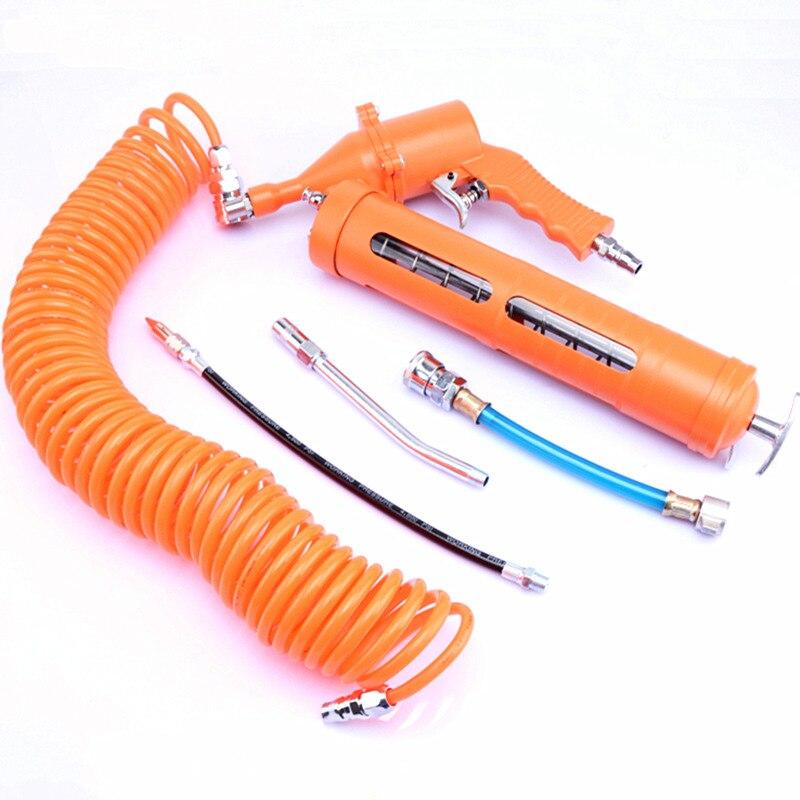 Type visuel pneumatique pistolet à graisse à air de remplissage de graisse outil vent graisseur pompe PU tuyau extension couplage 400cc van camion air gaz gain