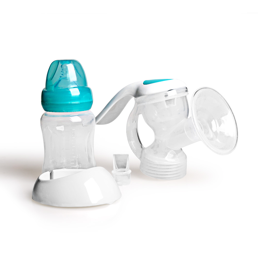 GL manual breast pump breast milk collector BPA free baby feeding bottle