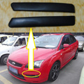 2 Pcs/Pair Skin line Black fog lamp light upper decorative strip for Ford Focus 2 II 2005-2007