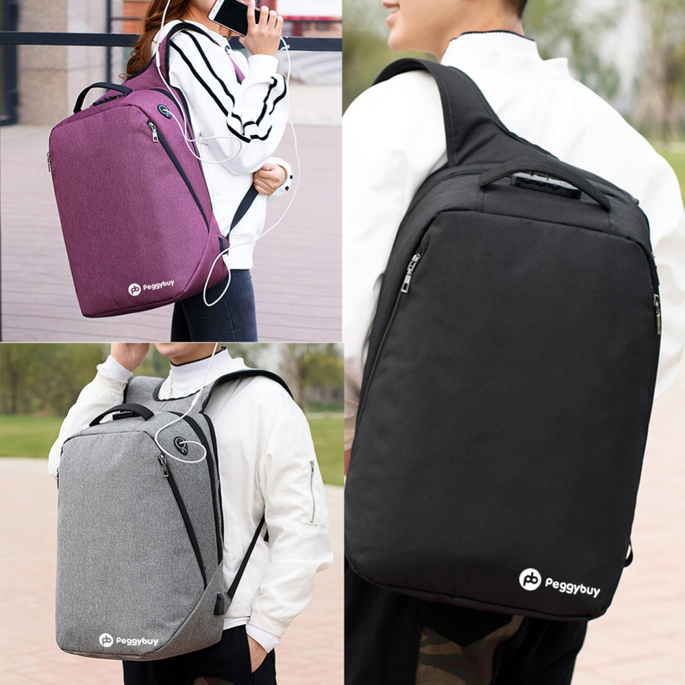 Multifunctional Usb Charging Canvas Backpack Men 17 Inch Laptop Backpack For Back To School Teenager Mochila Leisure Pack Unisex #6