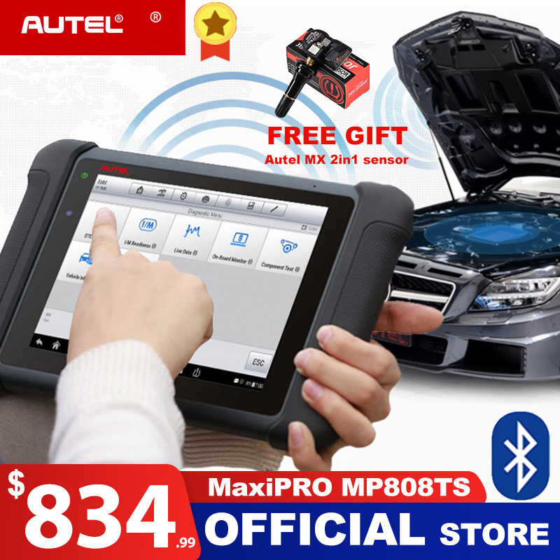 Autel MaxiPRO MP808TS Diagnostic Tool Automotive Scanner Bluetooth WIFI  TPMS Tool Programmer sensor PK MS906 TS601 DS808 MP808