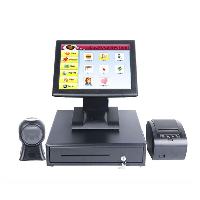Розничный ресторанный кассовый аппарат 15 дюймов розничный ресторанный китайский POS система/POS терминал/epos система/кассовый аппарат новейши