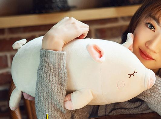 Cute 1pc 45cm pig font b doll b font sleep pillow lie prone to pig font