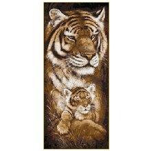 5D алмазная живопись «сделай сам», вышивка «Семья тигра», полная выкладка, стразы, мозаика, подарок D4081