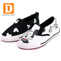 2016 New Spring Cartoon Children Shoes Brand Canvas Rubber Boys Girls Sneakers Comfortable Slip On Kids