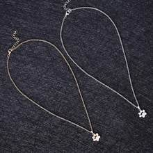 Fashion Cute Dogs Footprints Chain Pendant and Necklace