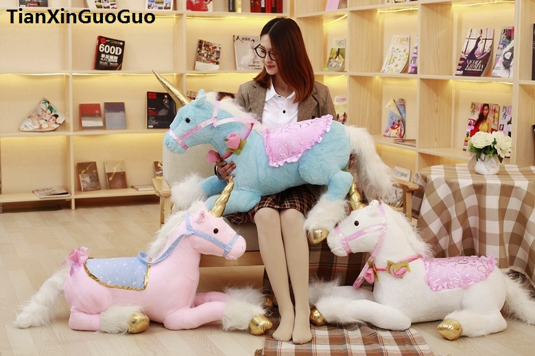large 85cm lovely prone unicorn plush toy soft doll throw pillow toy birthday gift s0823 large 110cm lovely prone brown bear plush toy down cotton soft bear doll throw pillow birthday gift s0397