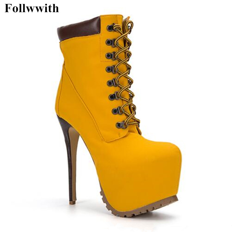 2018 Autumn Winter Women Ankle Boots Motorcycle Thin High Heel Luce Up Leather Double Buckle Platforms Botas Mujer Free Shipping cuddlyiipanda 2017 punk boots women black ankle boots motorcycle thin high heel double buckle punk platforms botas mujer