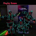 DIY Fashion Talent Show LED Strip Light-up Clothing LED Suits Luminous Costumes Illuminated Glowing Hooded For Festival Party