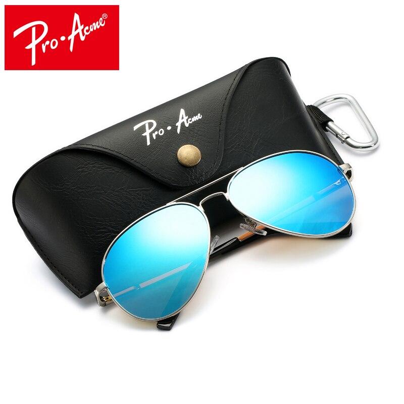 Pro Acme Große Metall Polarisierte Sonnenbrille Männer/Frauen Klassische Pilot Fahren Sonnenbrille Twin-Balken Rahmen mit Fall PA1052
