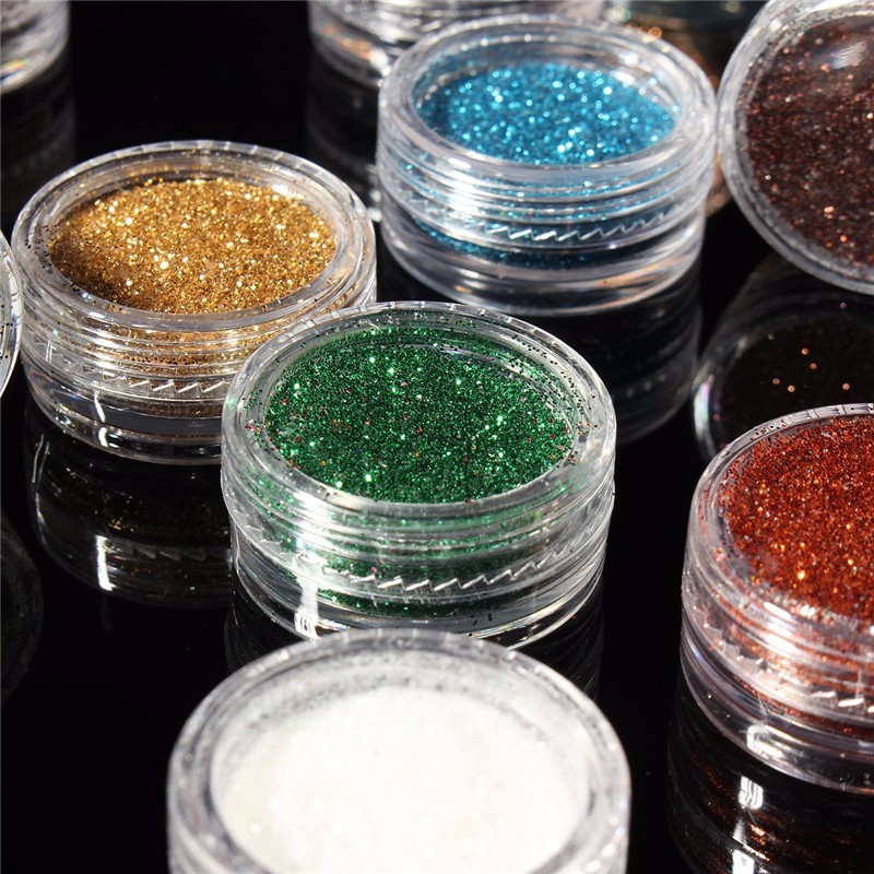 Eye Shadow Lower Price with Tobbeauty 12pcs Mixed Colors Eye Shadow Makeup Pigment Glitter Powder Mineral Spangle Eyeshadow Makeup Brightens Randomly Color A Complete Range Of Specifications Beauty Essentials