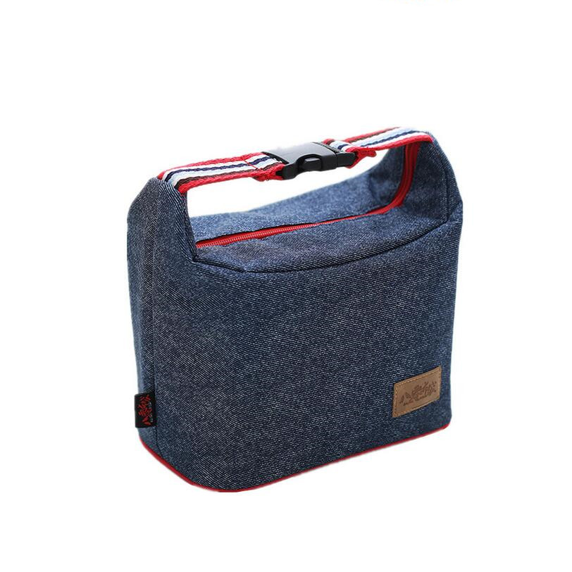 Denim Women Handbag Picnic Portable Lunch Bag Box Heat Insulation Unit Food Ice Beverages More Cooling Leisure Accessories