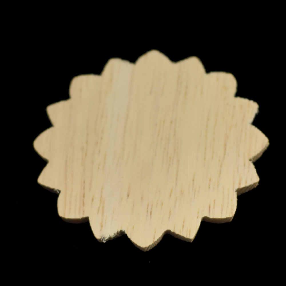 4 см европейские украшения DIY аппликации резные винтажные домашний Декор круглые аксессуары современные наклейки деревянная мебель украшение стола