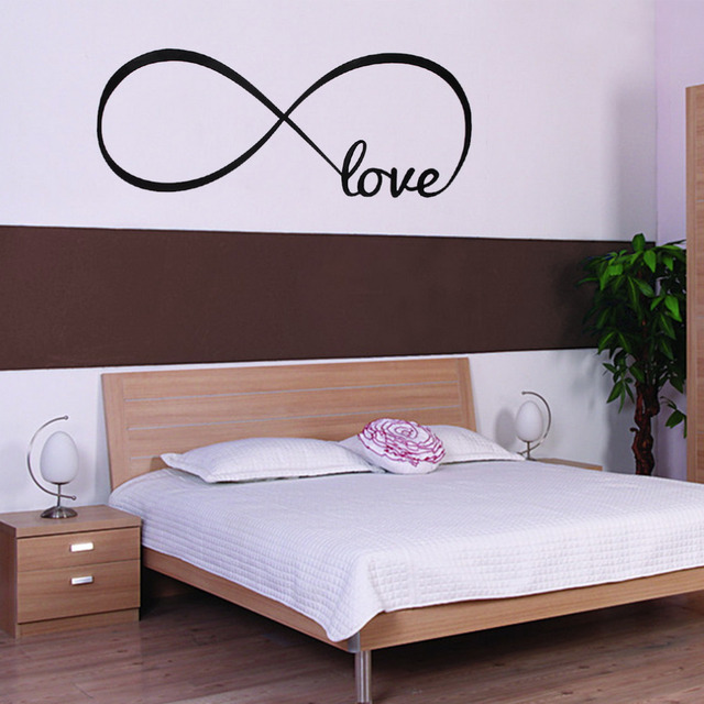Personalized Bedroom Wall Decals Wall Stickers Bedroom Decor  Infinity Symbol Word Love bedroom vinyl wall