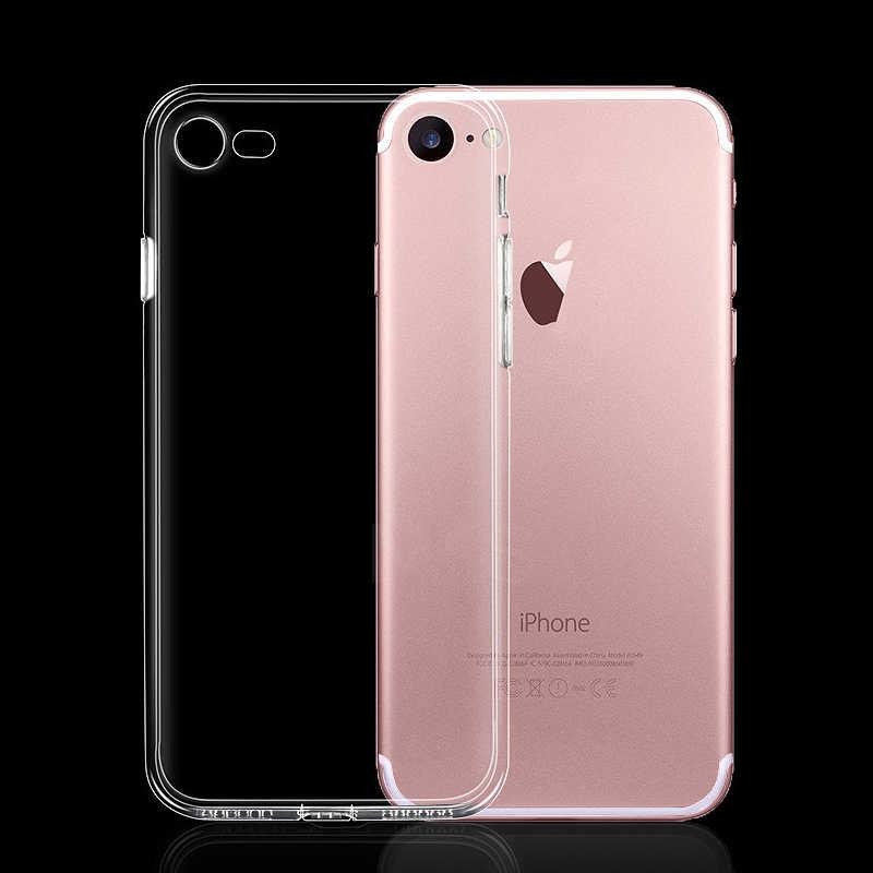Funda ultrafina transparente suave de TPU para iPhone 7 8 Plus Capa fundas transparentes para iPhone Xs 11 Pro Max X XR 6s 6 5s
