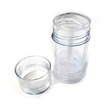 20pcs/lot 30ml AS Clear Transparency bottom filling stick deodorant container twist up tube 1oz