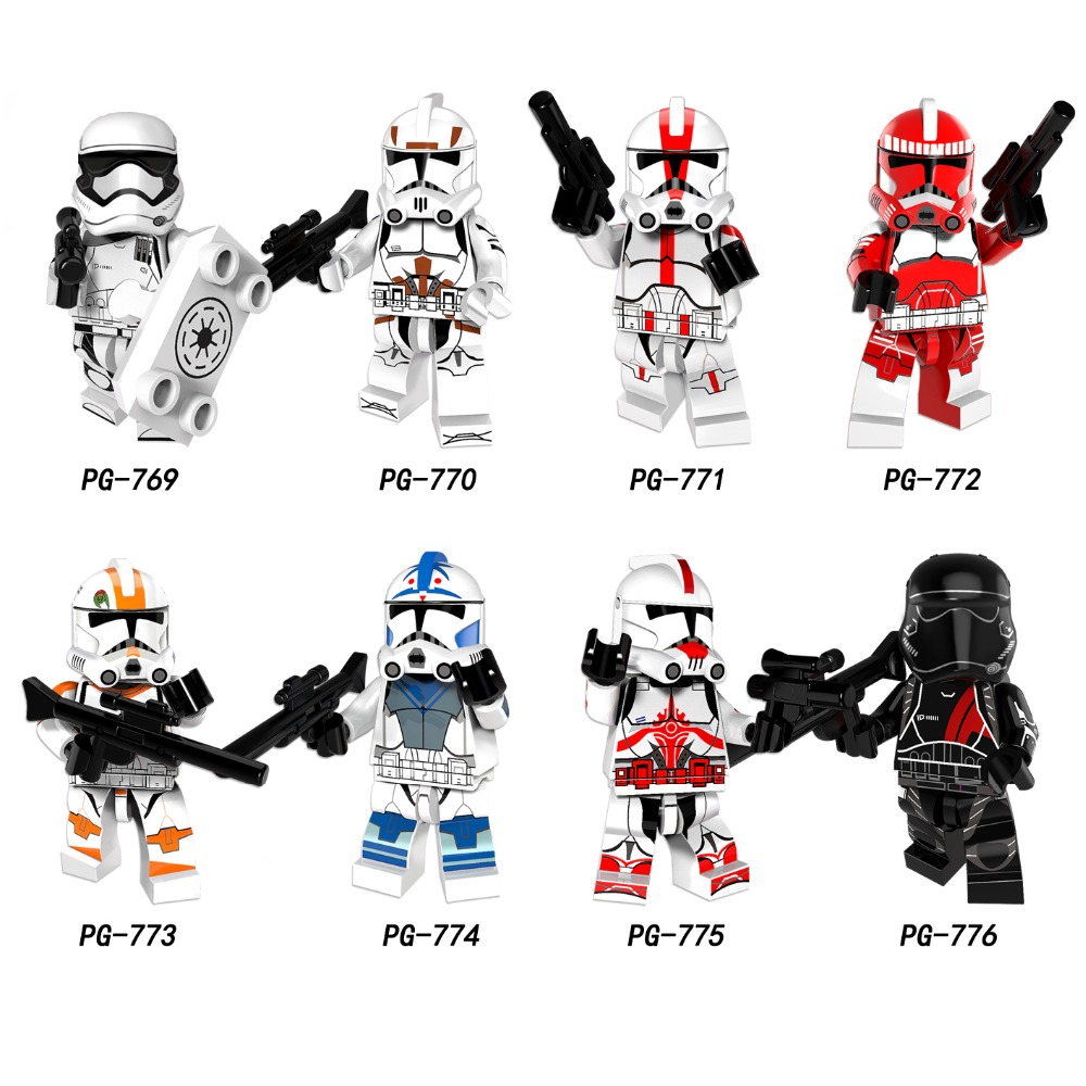 Single Sale Star Wars Clone Troopers Soldiers Imperial Army Military Mini Building Blocks Figure Toy Kids Gift