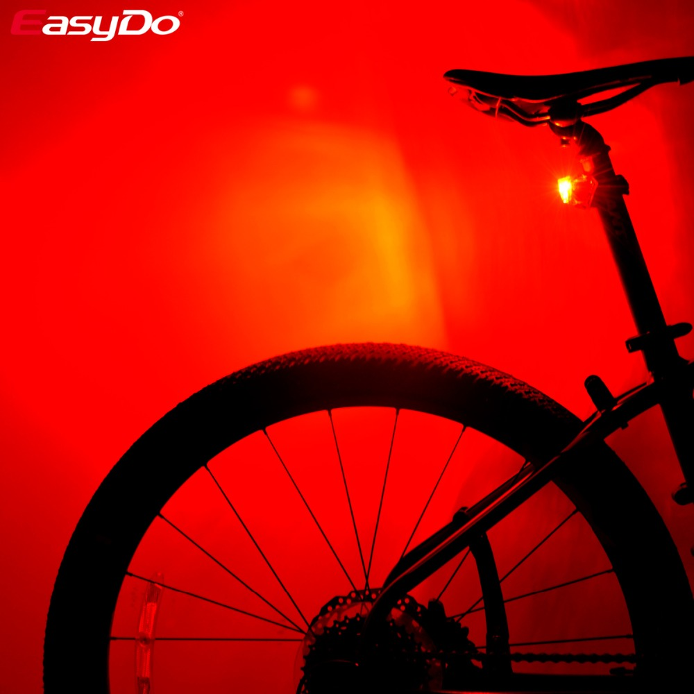Easydo Cycling Waterproof Breathing Battery Bicycle Tail Light Red 3 LED