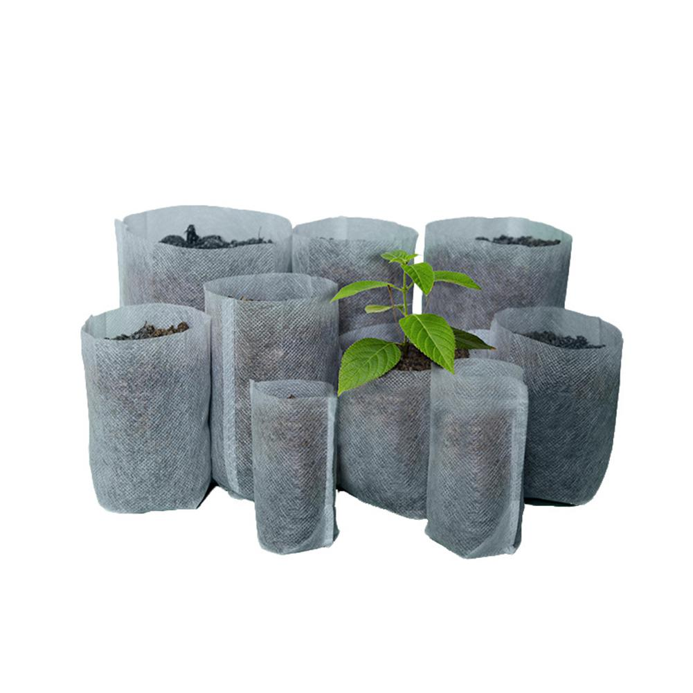 Adeeing 100PCS Degradable Non-woven Nursery Bags Seedling-raising Pots Gardening Supplies