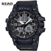 READ Military Quartz Watches WristWatch Relogio Masculino White Digital Design