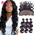 Indian Body Wave With Frontal Ear To Ear Lace Frontal Closure With Bundles Virgin Human Hair Bundles With Frontal With Bundles