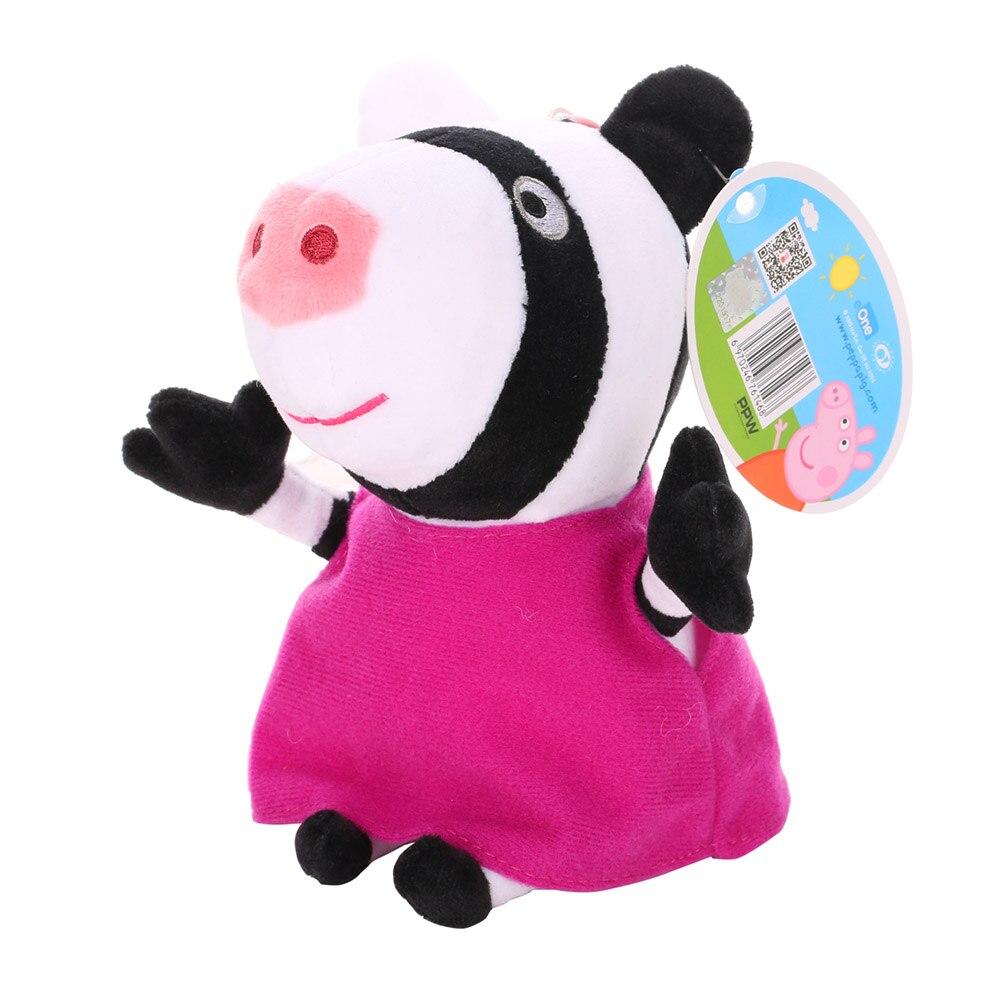 Оригинальные 19 см Свинка Пеппа Джордж Животные Мягкие плюшевые игрушки мультфильм семья друг свинка вечерние куклы для девочек детские подарки на день рождения - Цвет: E