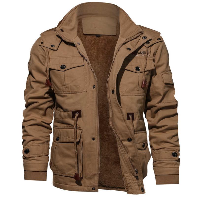 Winter Heren Merk Kleding Mannelijke Militaire Jas mannen Fleece Jassen Warm Hooded Jas Thermische Dikke Bovenkleding KB822