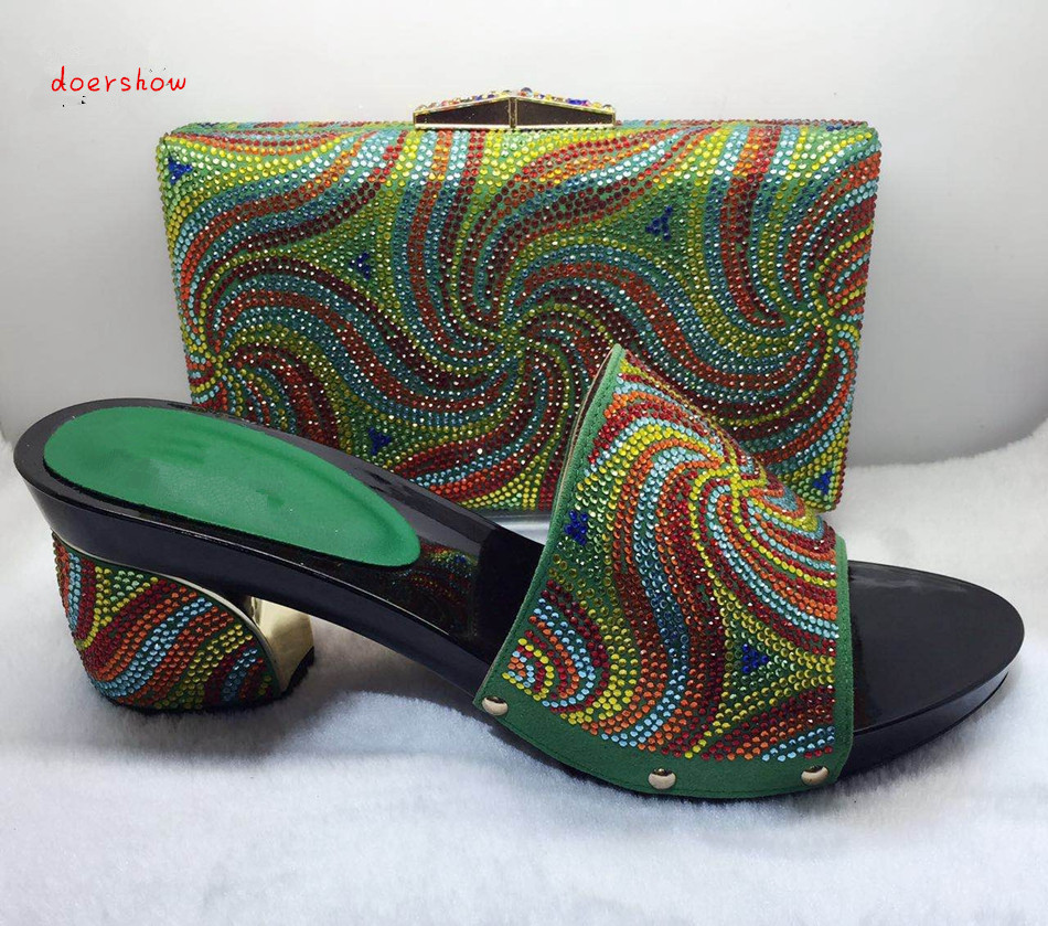 doershow Matching Shoes and Bags for African Partys Italian Shoes with Matching Bags High Quality Women Shoe and Bag Set TYS1-32 wholesale italian ladies matching shoes and bags set in yellow high quality fashion african women shoes matching bag set mm1026