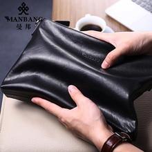 2016 Новый Manbang кожа мужчины Сцепления Роскошные сумки мягкая кожа конверт мешок большой емкости первый слой коускин MBS1830AH