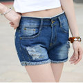 Spring And Summer Retro Mid Waist Women Denim Shorts Blue Loose Short Female Thin Curling Fashion Lager Size Short Jeans Women