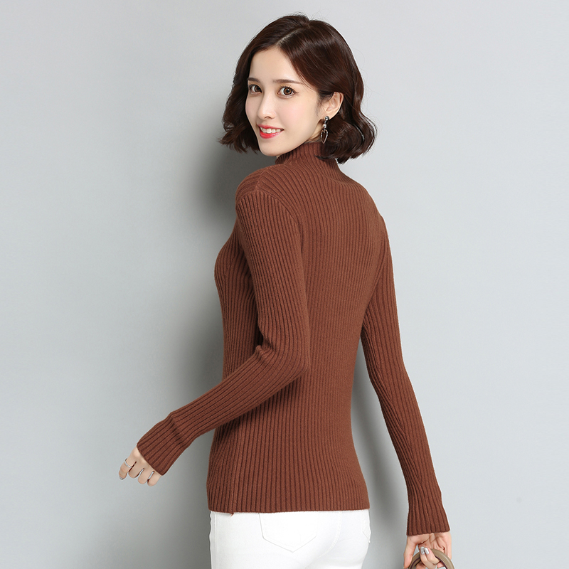 Elastic army Green red Sweater Slim Women black Tongmao Bottoming Pullovers caramel Knitted Solid Fashion Autumn Tight winter Turtleneck Beige High fWyRC